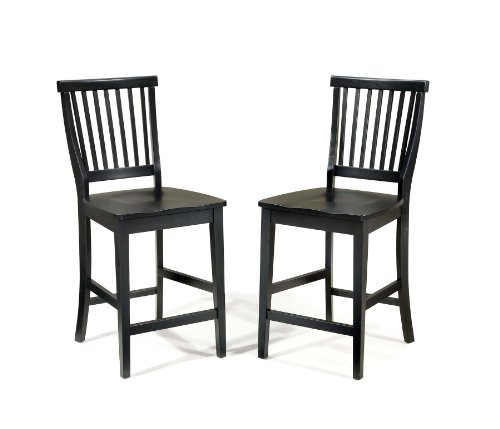 Home Styles 5181-89 Arts and Crafts Bistro Stool, Black F...