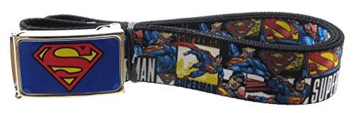 Belts Web Clothing Accessories (Superman Blue Web Belt 1.5