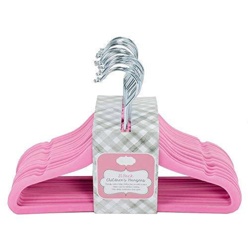 Home Expressions Children's Ultra Thin Premium 25 Pack Velvet Hangers - Velvet Gum Bubble