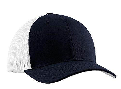 Port Authority Men's Flexfit Mesh Back Cap L/XL True Navy/White ()