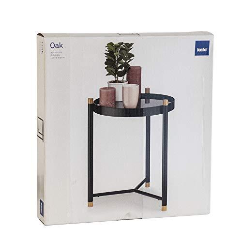 Kela Oak Coffee Table, Metal, Black, 40x 40x 52.5cm by Kela (Image #5)
