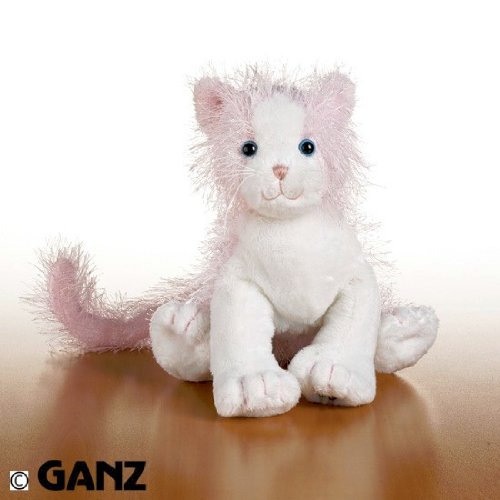 Webkinz Pink & White Cat with Trading Cards