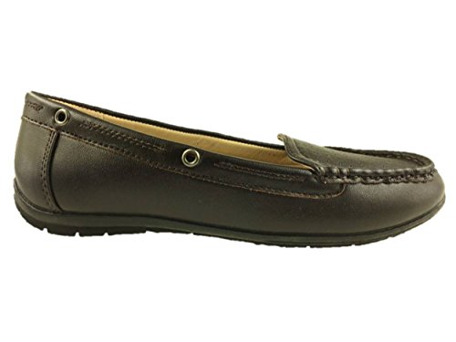 Bata Ladies Slip On Flat Comfort Walking Shoes Brown Size 3-8 New PIQaG