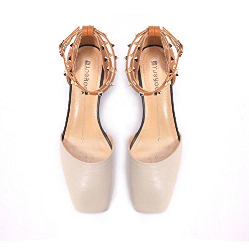 DALL Zapatos de tacón Ly-699 Áspero Talón Zapatos De Mujer Cabeza Cuadrada  Tacones Sandalias Primavera ... 9675ec3a1b1c
