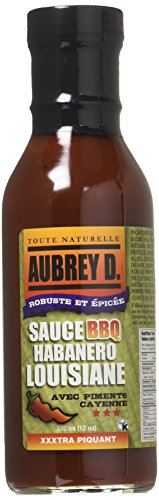 Jamaican Jerk Chicken Wings - Aubrey D. Habanero Louisiana BBQ Sauce with Cayenne Peppers, Bold and Spicy Barbecue Sauce, 12 oz (2 Pack)