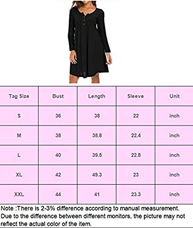 Eanklosco Womens V Neck Dress Casual Swing Simple Ruffle Button up Loose Dresses Long Sleeve