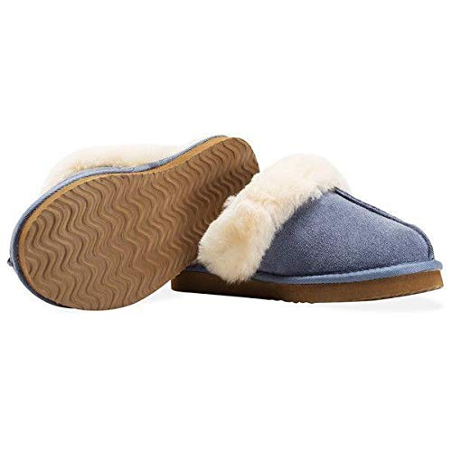 Redfoot Ladies Redfoot Mule Sheepskin Blue Ladies 8qTUwzz