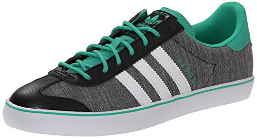 adidas Originals Men's Samoa Lifestyle Soccer-Style Sneaker, Core Black/Running White/Surf Green, 8 M US