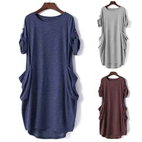 Amazon.com: VESNIBA Women Casual Loose Tops Batwing Pocket Baggy Tunic Female T-Shirt Clothes: Clothing