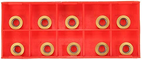 Leepesx SRAPR1616H10 Werkzeugfräser für Planfräser + 10 Stück RPMT10T3MO Hartmetalleinsätze