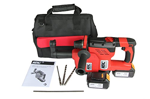 600 Watt Dc Power Pack - NENZ NZ-80-01Z SDS-plus DC Combination Battery Hammer with Dust Extractor 2 Lithium Batteries 1 Charger