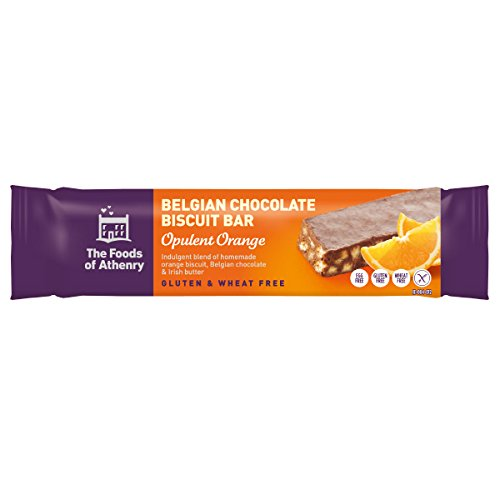 Belgian Chocolate Biscuits - Foods Of Anthenry - Opulent Orange Belgian Chocolate Biscuit Bar (10 x 55g Bars) from Ireland
