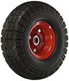 "10"" Flat Free Hand Truck Tire and Wheel with 5/8"" Center Shaft Hole"