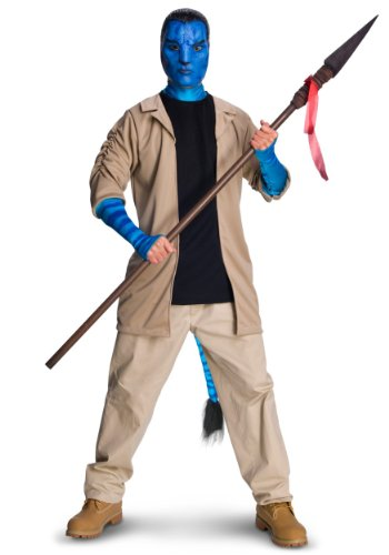 Rubies Mens Avatar Movie Characters Jake Sulley Fancy Deluxe Costume, XL (46-48)]()