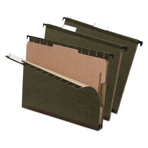 Folder Fasteners Pockets Tabs Inserts - Wholesale CASE of 10 - Esselte Hanging File Folders with Dividers-Hanging Folder, Fasteners, Pockets, Tabs, Inserts, LTR, GN