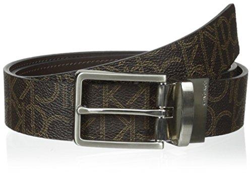 Calvin Klein Men's 35 mm CK Logo Reversible Strap Belt