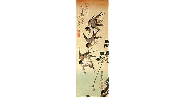 Acrílico llavero arte japonés Utagawa Hiroshige cinco ...