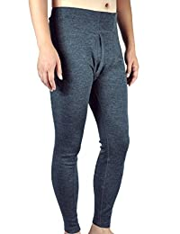 Sheep Run 100% Merino Wool Men's Midweight Base Layer Thermal Underwear Bottoms Pants Long John