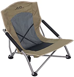 Brown folding chair unfolded