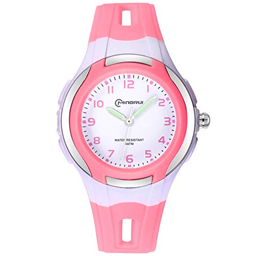 Kids Watches for Girls Boys,Child Waterproof Learning Time Wrist Watch with Glowing Hand Easy to Read Time WristWatches for Kids as Gift