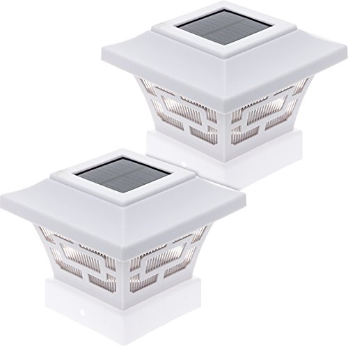 5X5 Solar Post Lights White - 4