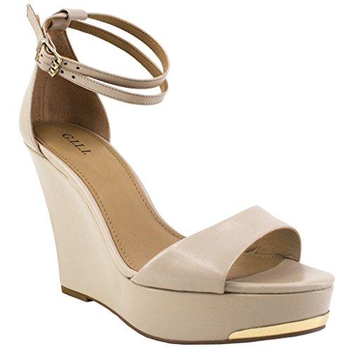G.I.L.I Avery Heeled Shoes, Dune, 9.5 M from G.I.L.I