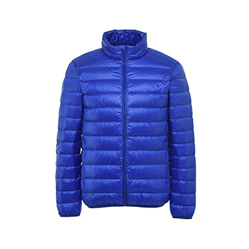 Short Light Jacket Men's Weight Down XICHENGHSHIDAI Blue S6TUq7t