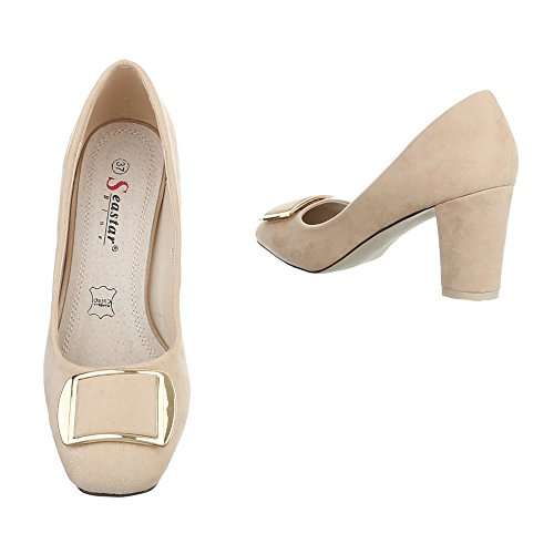 Ital-Design High Heel Pumps Damenschuhe High Heel Pumps Pump High Heels Pumps Beige