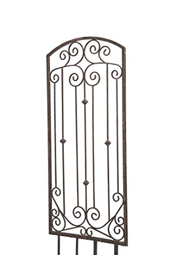 H Potter Large Garden Trellis Wrought Iron Heavy Scroll Metal Decoration Weather Resistant Lawn Patio Wall Decor Screen for Rose Clematis Ivy Gar602