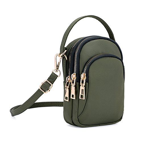 Shoulder Phone Ladies Small Design Girls Handbags Beige Nylon Wristlet Bag Crossbody Pouch Armygreen Handbag qz1zXZw