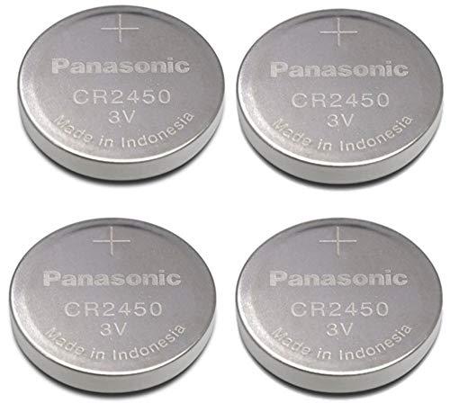 Panasonic Cr2450 Cr 2450 Lithium 3v Battery [ Pack of 4 ] (Lithium Battery Cr 2450)