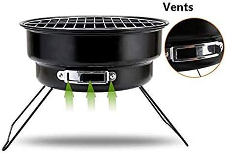 SMLCTY BBQ Brazier résistant à la Chaleur Structure en Acier Peint Jardin et Radiateurs Foyer Brazier Table Basse Barbecue et Seau à Glace