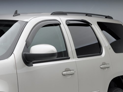 EGRAU Side Window Wind Rain Deflector Mitsubishi L200 Pickup Truck - 2006-2014 - Dark Smoke - Four (4) Piece Set