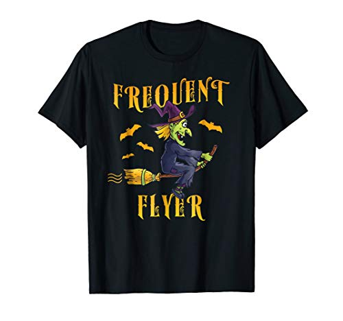 Frequent Flyer Witch Shirt Costume for