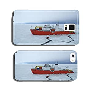 Icebreaker ship in the sea of Antarctic cell phone cover case iPhone6