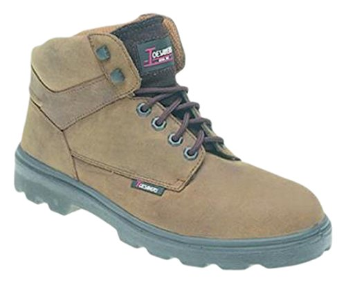 Toesavers 1200-8 doppia suola imbottita S3, stivali di sicurezza, taglia 8, colore: marrone