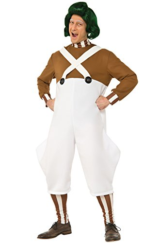 Oompa Loompa Wig (Rubie's Men's Willy Wonka and The Chocolate Factory Deluxe Oompa Loompa Costume, Multi, Standard)