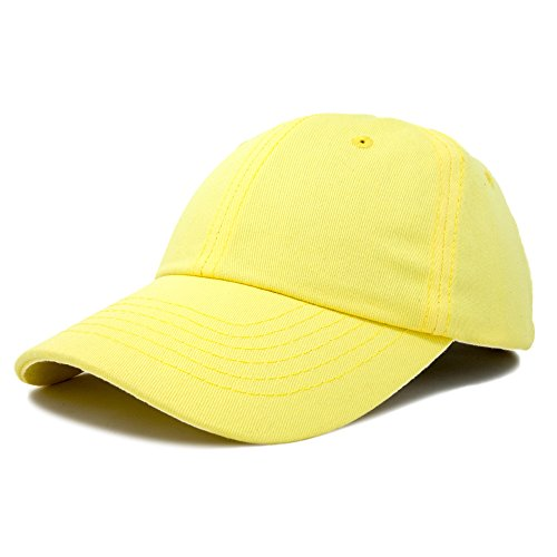 DALIX Baseball Cap Dad Hat Plain Men Women Cotton Adjustable Blank Minion Yellow -