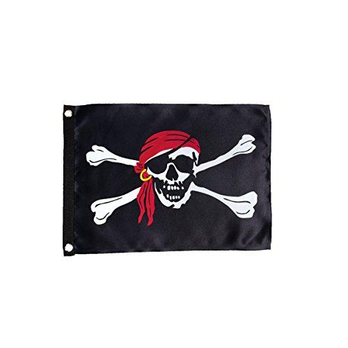 In the Breeze 3683 Jolly Roger Lustre Grommet Flag, 12