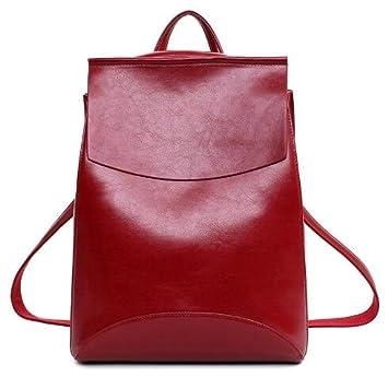 liningdesign piel sintética mochila mujeres mochilas para adolescentes Niñas Escuela Bolsas Mochila Vintage negro verano marca, granate: Amazon.es: Deportes ...