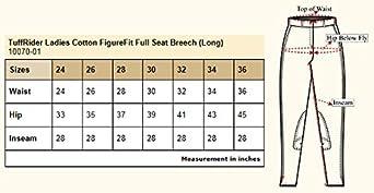 TuffRider Womens Long Cotton Figurefit Full Seat Breech