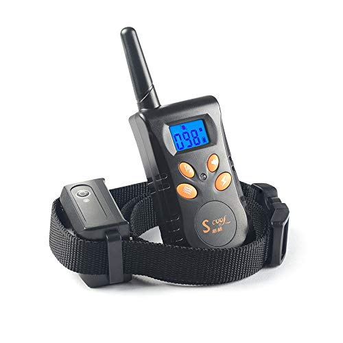 Dog Training Shock Collar, 1000ft Remote Range Rechargable Waterproof Bark Control Collar with Electric Shock Vibration Beep Modes