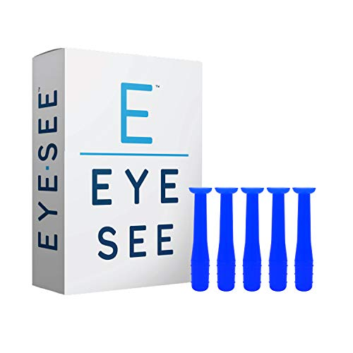 EyeSee Hard Contact Lens Remover and Applicator RGP Plunger - Allows for Easy Removal/Application of Sclera Contacts - Box of 5 (Blue) (Sclera Contacts Lenses)