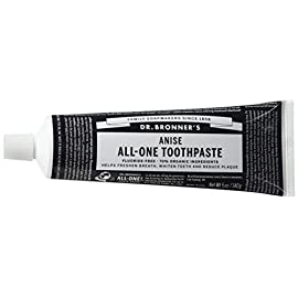 Dr. Bronner's Magic Soaps Toothpaste 77 ANISE TOOTHPASTE. Our low-foaming formula cleans your pearly whites without fear of harsh or harmful ingredients. It has no synthetic detergent foaming agents, fluoride, no artificial colors, flavors, carrageenan, or preservatives. FRESH AND CLEAN. This simple yet effective toothpaste stimulates mouth, teeth, gums and tongue, leaving them fresh and clean. Made in a 100% recyclable box and tube. ORGANIC INGREDIENTS. Dr. Bronner's offers vegan ingredients that are 70% organic. Reduce plaque and whiten teeth with clean ingredients. This formula will nourish your gums, as you keep your mouth refreshed, renewed, and clean.