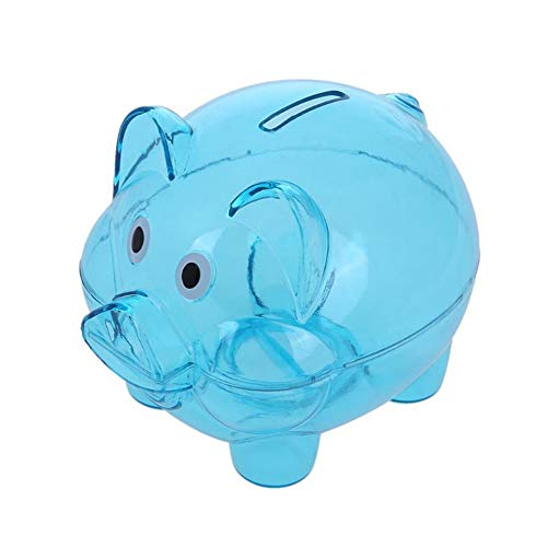GOLD liu New Transparent Plastic Money Saving Box Case Coins Cartoon Pig Shaped Piggy Bank Cash Coin Money Box Child Gift F