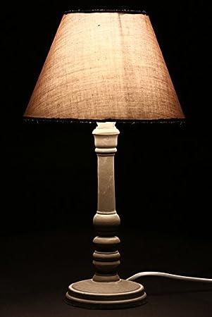 Lampe A Poser Style Romantique Coloris Taupe Patine Hauteur 36cm