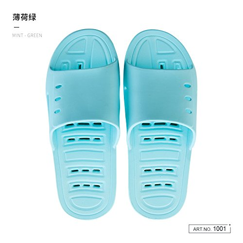fankou Water Bath Slippers Female Summer Home Stay in The Bath Fast Dry Couple Anti-Slip Soft Bottom Exposed Cool Slippers,35-36,a Green