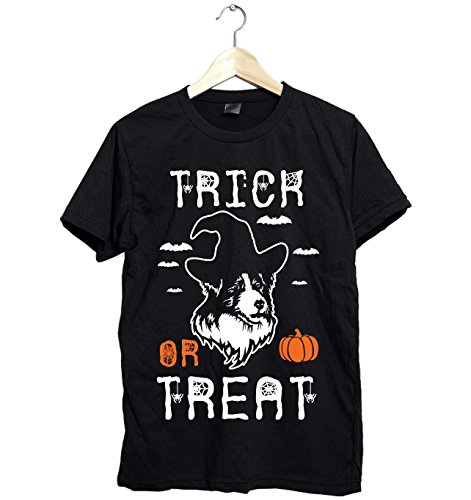 Australia Shepherd Halloween Funny Trick Or Treat Unisex Shirt For Dog Mom -