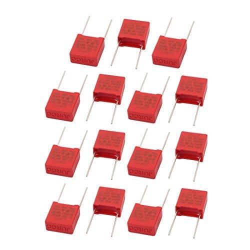 eDealMax 15Pcs 0.1uF X2 104K Metal axial Conductores de la película de poliester Condensador El condensador de Seguridad de Red: Amazon.com: Industrial & ...