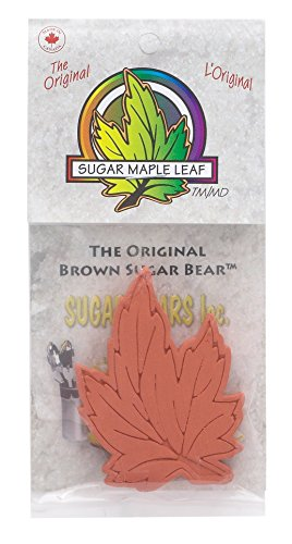 Sugar Maple Leaf - Brown Sugar Bear Original Brown Sugar Saver and Softener, Terracotta, Maple Leaf